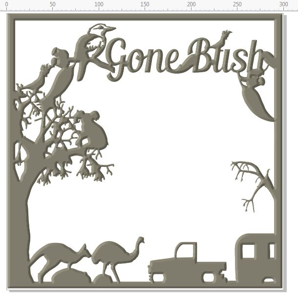Gone bush Frame  12 X 12 LEAVE AS IT IS OR CUT IT UP